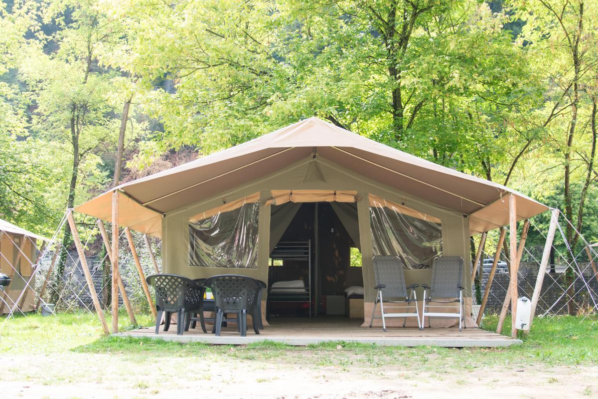 België familievakantie luxe safaritent Belgische Ardennen