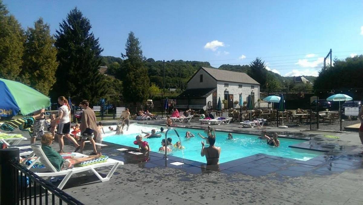 België eenoudervakantie Freecamp huurtent Confluent Comblain-au-Pont Ardennen