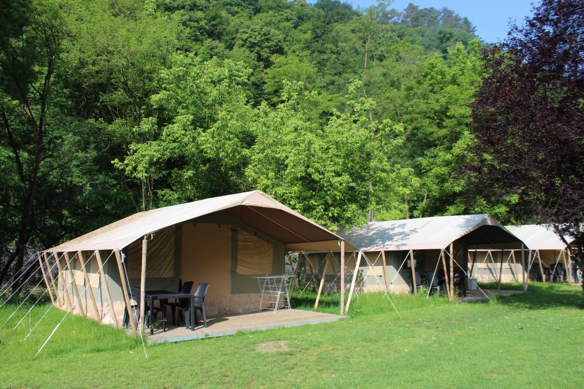 België familievakantie luxe safaritent Ardennen voor- en najaar