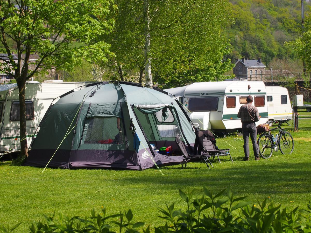 België eenoudervakantie campingplek Comblain au Pont Ardennen 2018