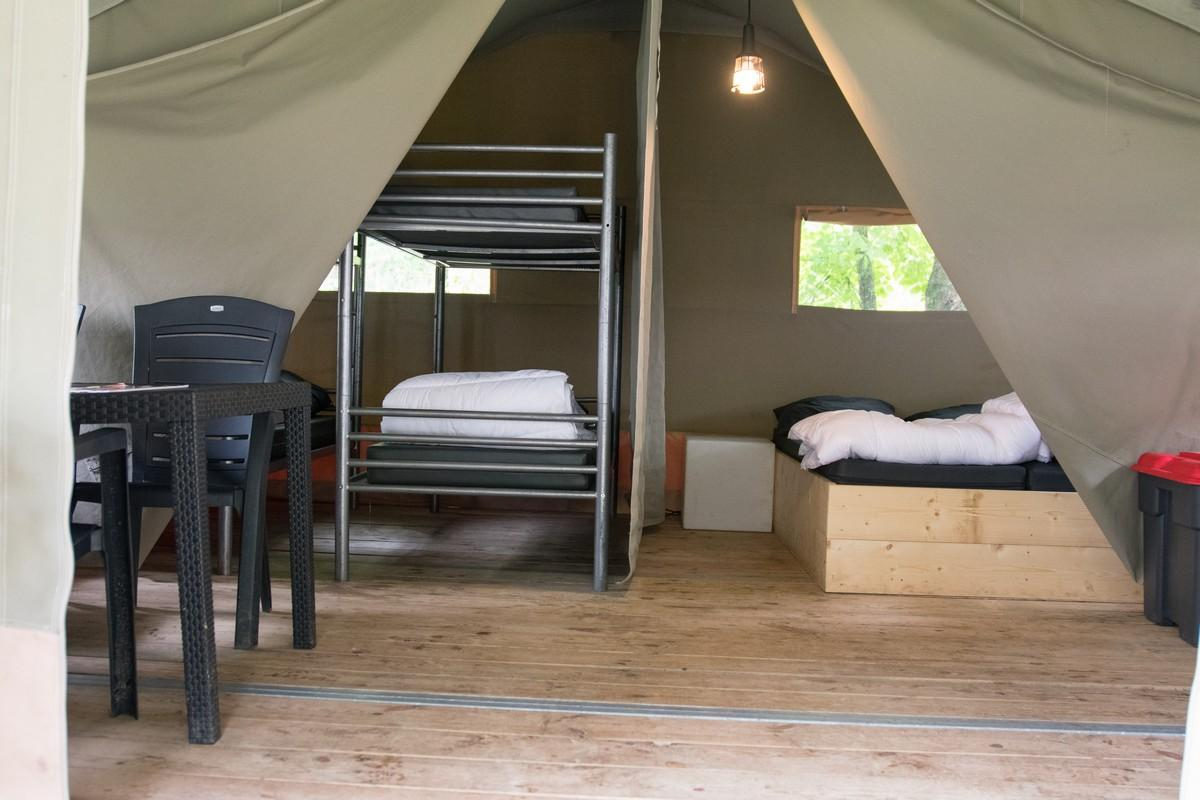 België eenouder vakantie weekend luxe safaritent